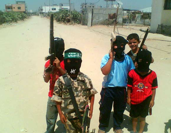 Gaza jids with toy guns