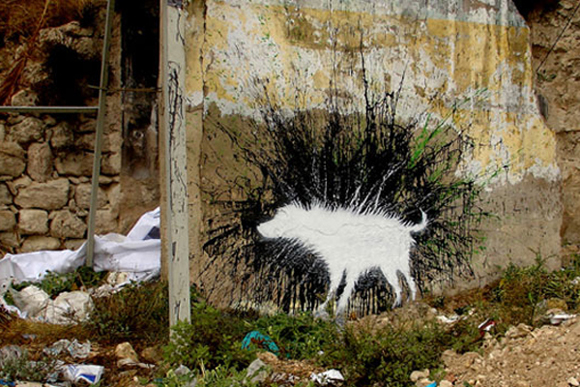 Banksy's Wet Dog