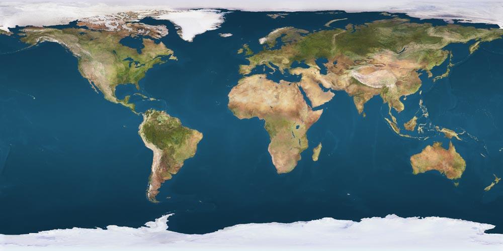 NASA world map