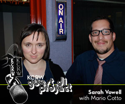 Sarah Vowell and KCRW DJ Mario Cotto