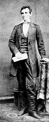 Photo of Abe as young man, standing