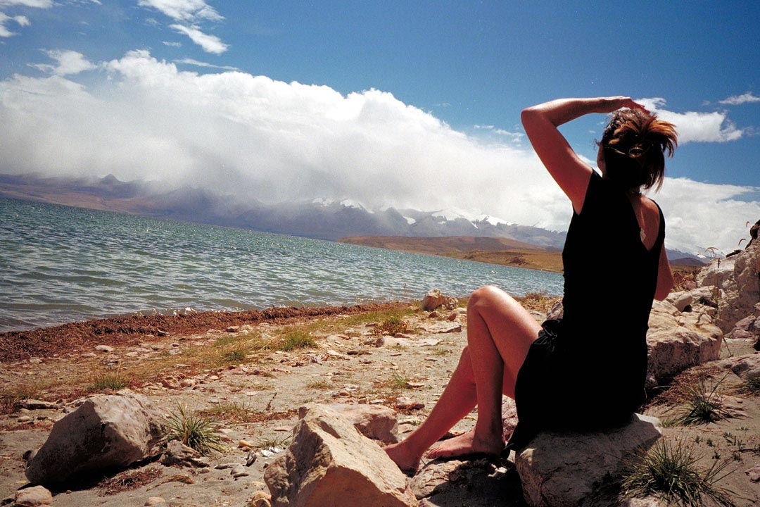 Mt Kailash: Lisa by the lake
