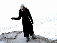 Mt Kailash: Lisa in warm coat