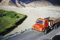 Mt Kailash: Truck on the road