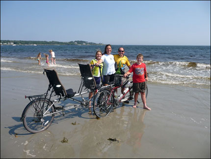 The Calzaretta family on the Atlantic