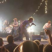 Pavement playing on stage