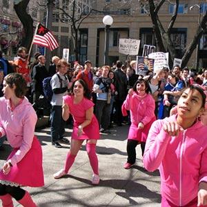 Activists: Pink Bloque