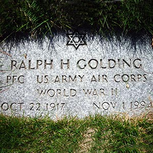 Ralph Golding military grave
