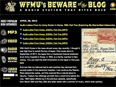 WFMU Beware of the Blog