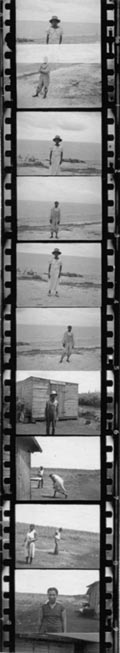 Portraits of people standing outdoors, including Zora Neale Hurston in bottom frame. Photos probably taken in Belle Glade, Fla., during the Georgia, Florida and Bahamas expedition, 1935