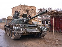 Tank on the highway in Balkh