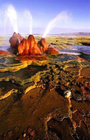 Fly Geyser, Black Rock Desert in Nevada