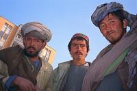 Men at the mosque in Mazar