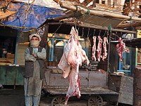 Selling a dead goat in Mazar
