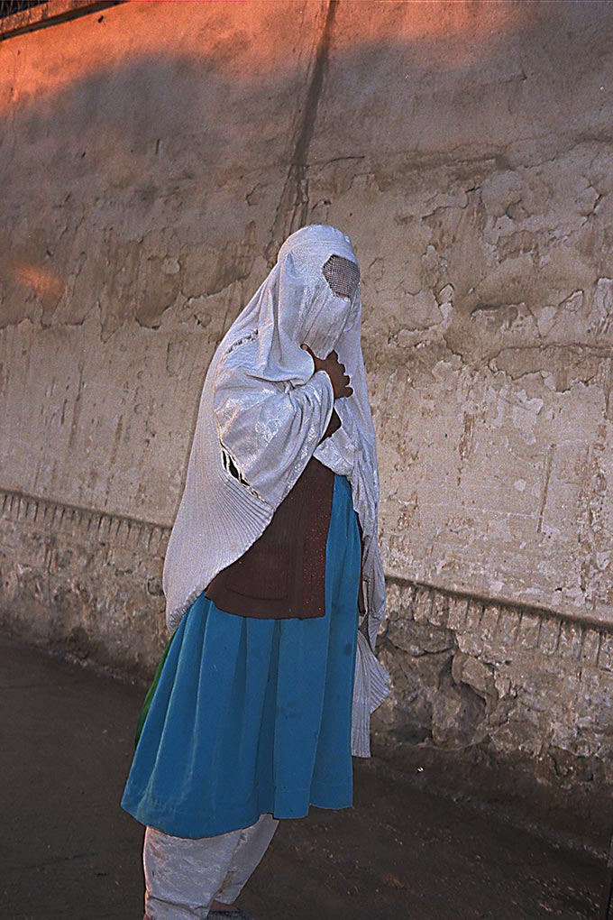 A woman in Mazar-i-Sharif