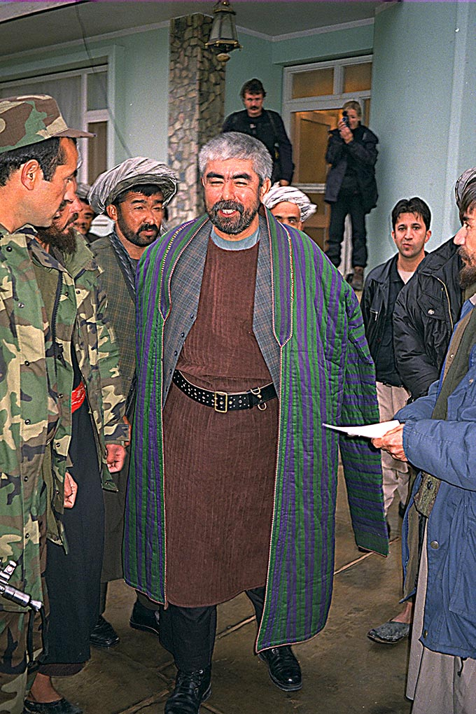 General Abdul Rashid Dostum and men in Sherbigan