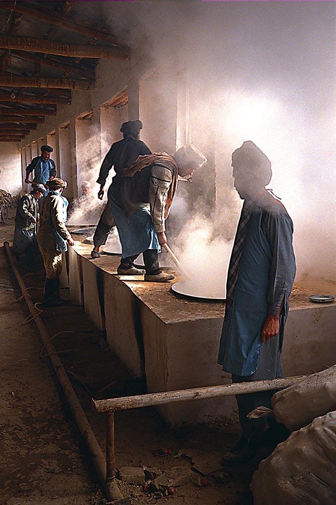Men in Sherbigan prison kitchen