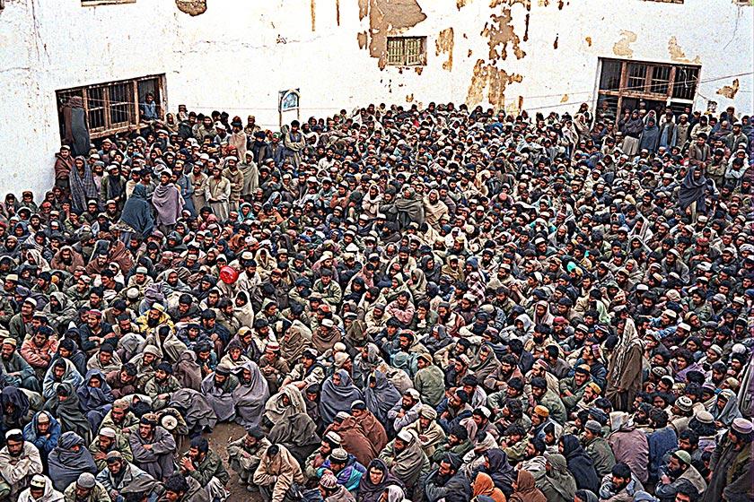 Sherbigan prisoners crowed into yard