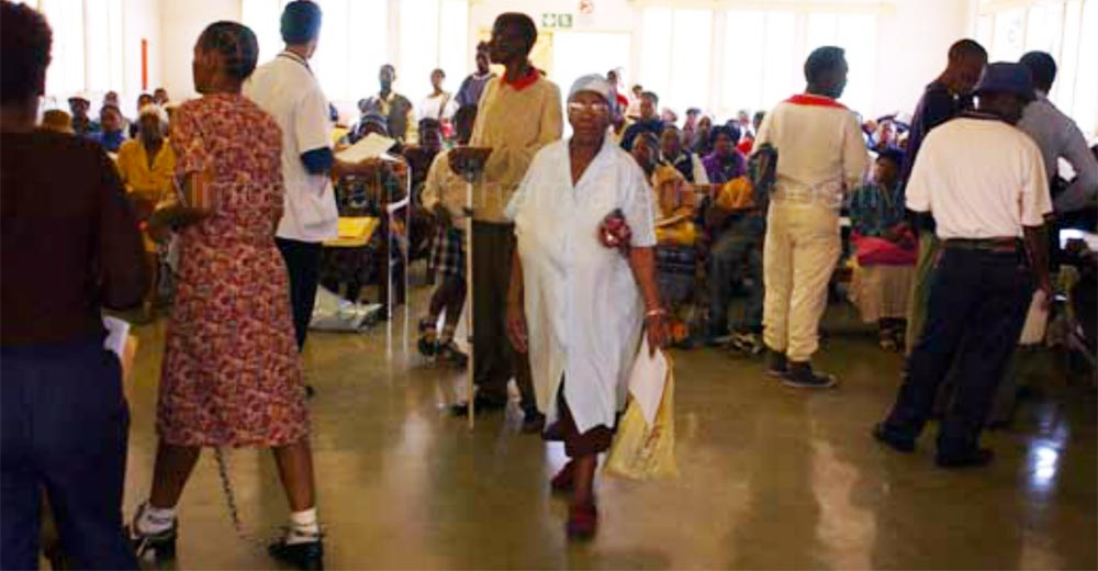 Patients at Baragwanath Hospital in Soweto, South Africa.