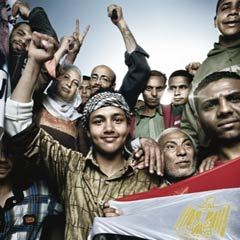 Egyptians in Tahrir, photo by Platon