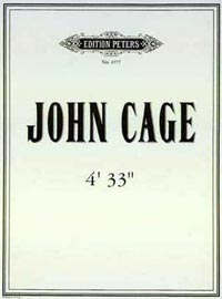 Sheet music cover to Jahn Cage's composition 4:33