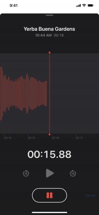 Voice Memo app: recording audio