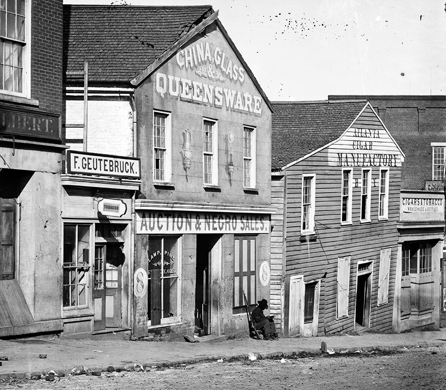 Slave trader's business, Whitehall Street, Atlanta, Georgia, 1864