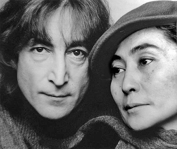 John Lennon and Yoko Ono in 1980, the year John Lennon was murdered (photo by Jack Mitchell)