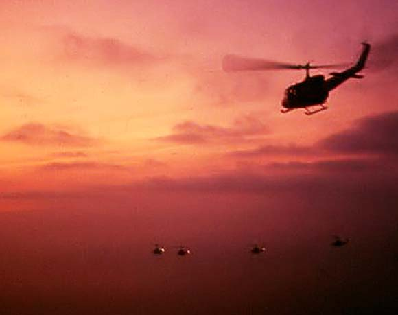 U.S. Helicopters at dawn