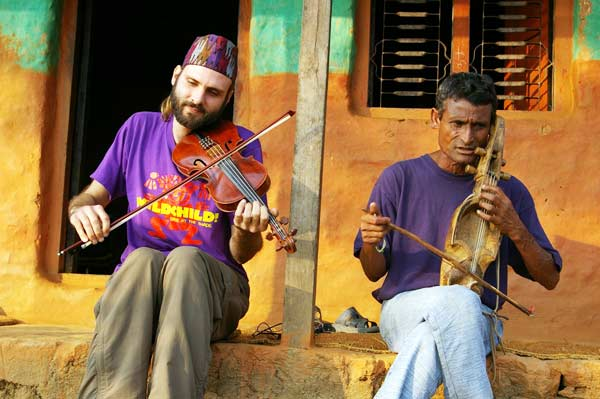 American and Nepalese musicians