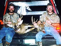 Rupe and Joe LaRock with their deer.