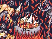 Medieval illustration of Hell in the Hortus deliciarum manuscript of Herrad of Landsberg