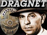 Dragnet's Jack Webb with LA Police badge