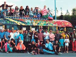 Merry Pranksters on the bus; photo from Zane Kesey