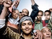 On April 1, 2011, Egyptians returned to Tahrir Square in Cairo for a rally to save the revolution, photo: Platon for Human Rights Watch<br />