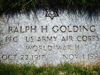Ralph Golding's Grave, Massachusetts National Cemetery