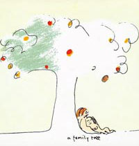 A Family Tree: Lennon drawing of he and Yoko under a tree