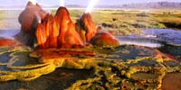 Geyser in Black Rock desert