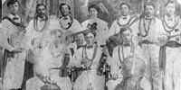 Hawaiian musical group, Iosepa Troubadours, around 1910