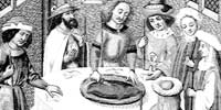 15th century painting of Passover meal