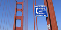Golden GateBridge with emergency phone