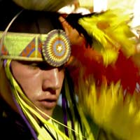 Photo of dancer at Crow Fair, by Donnie Sexton, Montana Office of Tourism