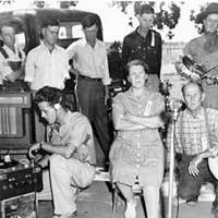 Mr. and Mrs. Frank Pipkin being recorded by Charles Todd, 1940