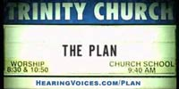 Chruch sing with The Plan letters