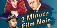 Radio series poster with film noir characters